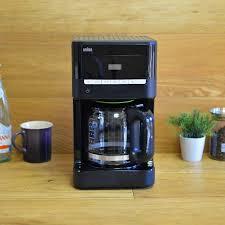 Brown Coffee Maker 12 Cup Digital Program Braun KF7000BK Brew Sense Drip Black