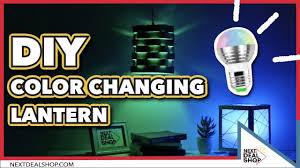 diy your own color changing lantern magic rgb light bulb next