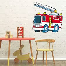 Fire Truck Wall Sticker - Wall-art.com