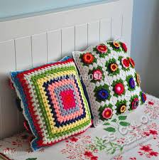 24 X 24 Patio Cushion Covers by Handmade Crochet Flower Cushion Cover For Chair And Seat Size 40