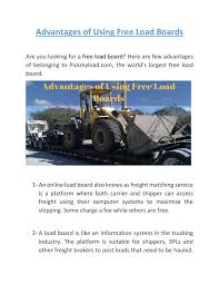 Advantages Of Using Free Load Boards | Pickmyload.com By ... How To Bid On Loads Using Omnitracs Sylectus Youtube Load Board For Brokers Dr Dispatch Video Demos The Daily Rant Click Mouse Make Money Free Freighttrucking Invoice Template Excel Pdf Word Doc Trucking Companies And Cash Flow What Are The Alternatives Truck Features Truckloads Dat Power Post Basics Overview Cool Lovely Hot Shot Boards Search