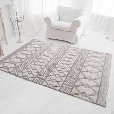 moderner teppich skandinavisch grau luxury 6200