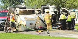 A Real Shifty Situation: Man Cut Free From Overturned Septic Truck ...