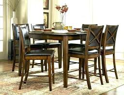 Rustic Bar Height Dining Table Set Counter Snow Winter