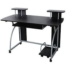 bureau informatique songmics bureau informatique tablette clavier coulissante meuble de