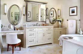 bathroom vanity with makeup area bathroom traditional with