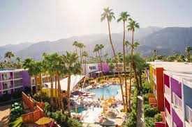 100 Sagauro Palm Springs In The California Desert A Hotel In A Burst Of Rainbow
