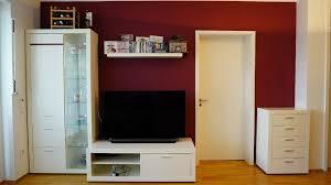 wohnwand anbauwand schrankwand wohnzimmer skandinavien weiß