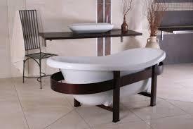 freistehende luxus badewanne jugendstil toscane 1675mm weiß holzgestell braun antik stil badezimmer