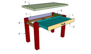 diy desk plans howtospecialist how to build step by step diy