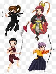 A Variety Of Cartoon Girl