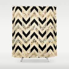 Gold And White Chevron Curtains by Chevron Shower Curtains Society6