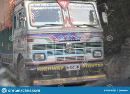 100 Most Popular Trucks Kathmandu Nepal Circa June 2013 Colorful Decorated Nepali