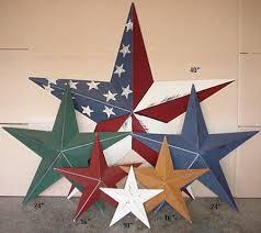 American Metal Tin Barn Star Amish Stars Primitive