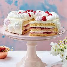 himbeer mascarpone torte mit baisertuffs