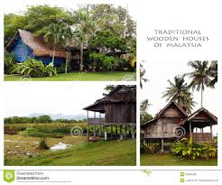 100 Houses In Malaysia Traditional Wood Of Collage Stock Photo Image Of