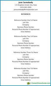 Reference Page For Resume Nursing