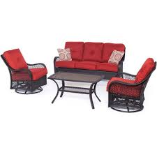 Deep Patio Cushions Home Depot by Hampton Bay Edington 4 Piece Patio Deep Seating Set With Celery
