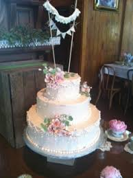 Rustic Wedding Cake With Sugar Flowers