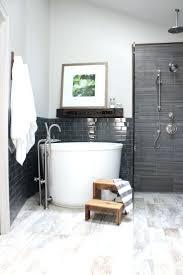 chandelier over bathtub soaking tub modern 3 4 bathroom with high