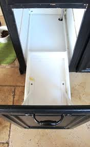 Under Cabinet Trash Can Pull Out by Convert A Cabinet Into A Pull Out Trash Bin Pull Out Trash Bin