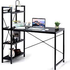 relax4life computertisch mit 4 regalen schreibtisch mit