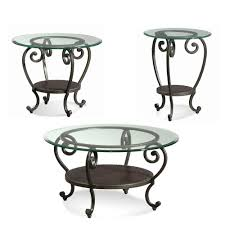 100 Small Wrought Iron Table And Chairs End S Black Stainless Steel Base Glass