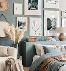 blauer see bilderwand fotoposter poster mit sprüchen schlafzimmer blau