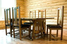 Craftsman Dining Room Mission Style Table Kitchen With Arts And Crafts Plans Sears Chairs