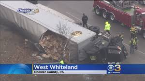 UPS Truck Overturns In Chester County « CBS Philly