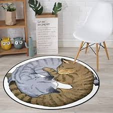 xuhon katze motiv runden bereich teppich rutschfeste