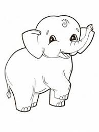 Cute Elephant Coloring Pages Free Printable For Kids Images