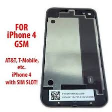 NEW Black iPhone 4 4G Back Glass Rear Door Battery Cover GSM
