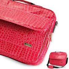sac sacoche pc 17 portable motif peau crocodile couleur 17