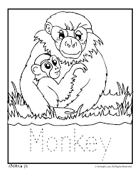 Zoo Animal Coloring Pages Babies Monkey Classroom Jr
