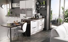 salon de cuisine decoration de cuisine ouverte sur le salon