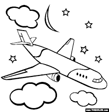 Airplanes Online Coloring Pages