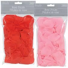 Bulk Red and Pink Fabric Rose Petals 300 ct Bags at DollarTree