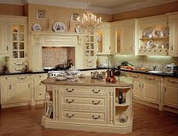 Old Fashioned Kitchen Cabinets Extendable Dining Table French Country Ideas Green Color Wooden Island L Shape Brown