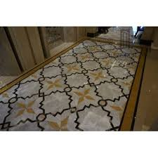 Italian Decorative Waterjet Marble Flooring Design China