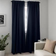 majgull 2 gardinenschals verdunk dunkelblau 145x300 cm