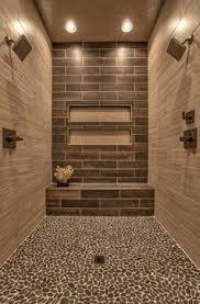 sliced charcoal black pebble tile pebble tile shower tile