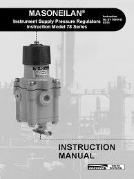 masoneilan 78 series air filter regulators iom hydraulic