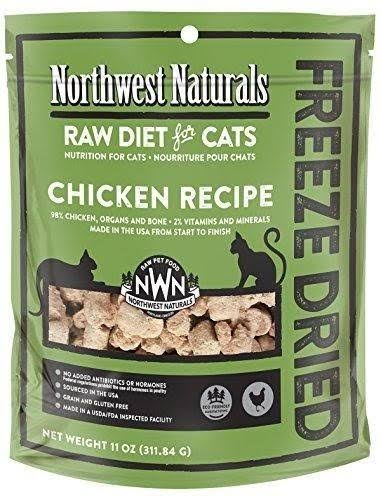 Northwest Naturals Raw Diet Freeze Dried Chicken Cat Food 11oz