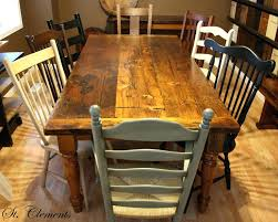 Farm Table And Chairs Mismatched Kitchen Farmhouse Dining Set For Sale