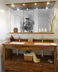 meuble de cuisine dans salle de bain fabriquer meuble salle de bain avec plan de travail