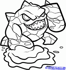 Skylanders Hot Head Colouring Pages