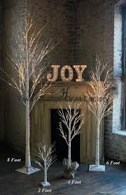LED Christmas Tree Snow White Birch Lights On A Dying 2
