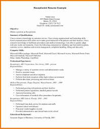 Front Desk Receptionist Curriculum Vitae by 7 Front Desk Medical Receptionist Resume Chef Resumed