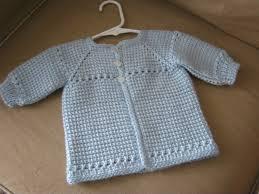 crochet baby boy sweater blue made to order tunisian